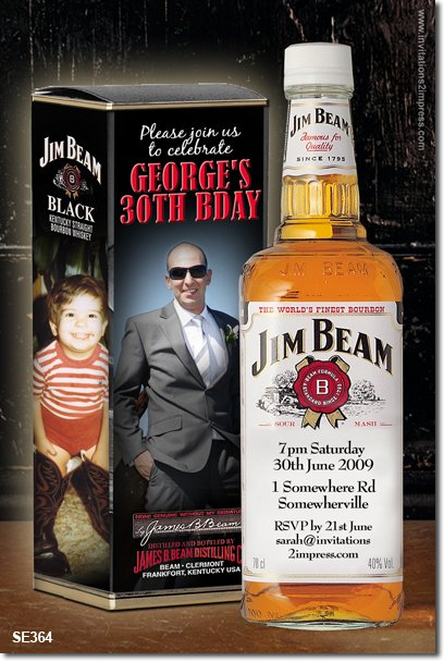se364 - adult birthday - jim beam bottle and box
