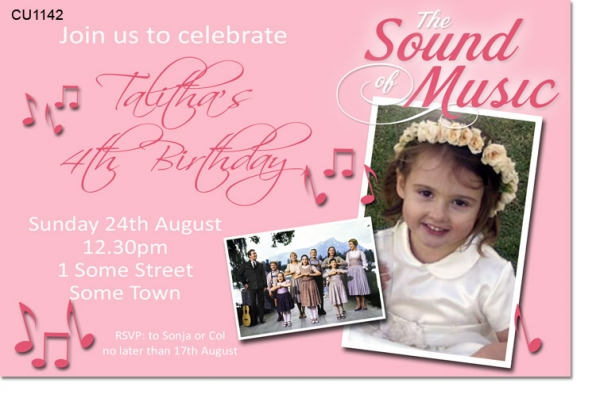 CU1142 - The Sound of music Birthday Invitation