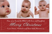 CU655 - Merry Christmas Card - 3photo