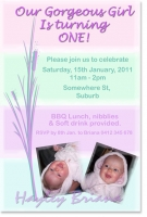 BC163 - Sweet Girls Birthday Invitation