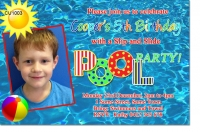CU1003 - Boys Pool Party Birthday Invitation