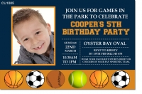 CU1005 - Boys Ball Sports Birthday Party