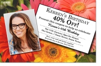 CU1006 - Adults Discount Voucher Birthday Invitation