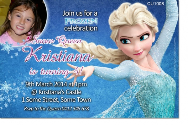 Cu1008 frozen birthday invitation girls themed birthday cu1008 frozen birthday invitation stopboris Images