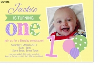 CU1015 - Girls Birthday Invitation