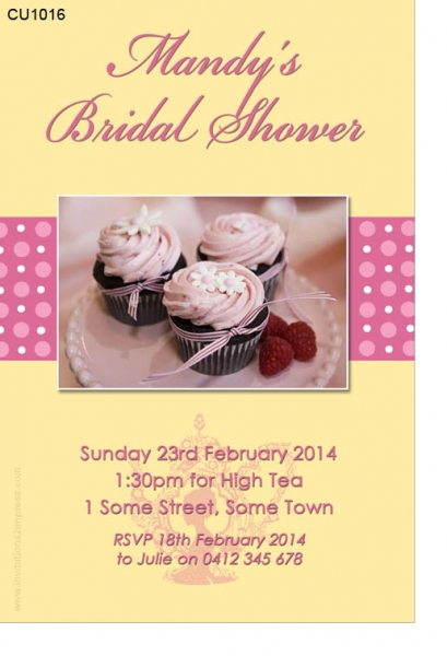 CU1016 - High Tea Bridal Shower Invitation