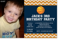 CU1017 - Boys Basketball Birthday Invitation