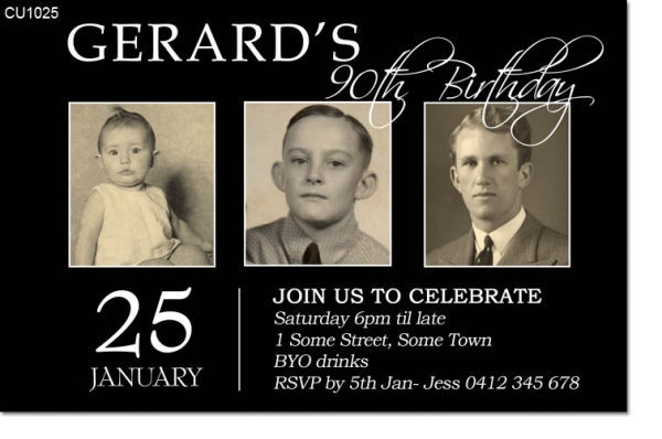 CU1025 - Mens Birthday Photo Invitation