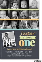 CU1032 - 12 photo Birthday Invitation