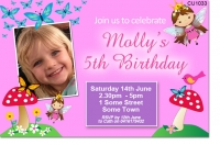 CU1033 - Fairy Princess Birthday Invitation