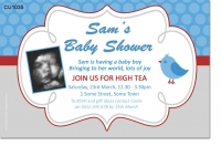 CU1035 - Cute Sweet Baby Bird Baby Shower Invitation