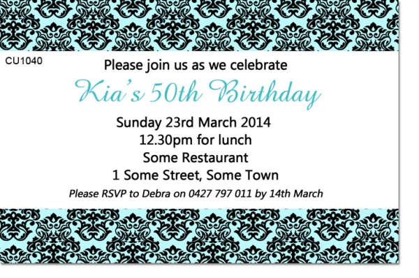 CU1040 - Elegant Birthday Invitation