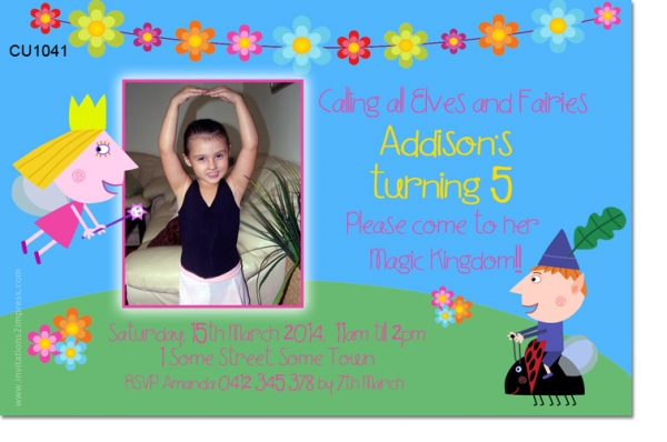 CU1041 - Ben and Holly Birthday Invitation