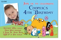 CU1042 - Adventure Time Birthday Invitation