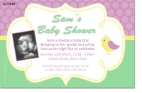CU1045 - Cute Sweet Baby Bird Baby Shower Invitation