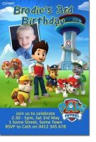 CU1047 - Boys Paw Patrol Birthday Invitation