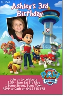 CU1048 - Girls Paw Patrol Invite