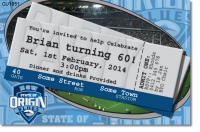 CU1051 - NSW Origin Rugby League Birthday Invitation
