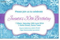 CU1052 - Adults Frozen Birthday Invitation
