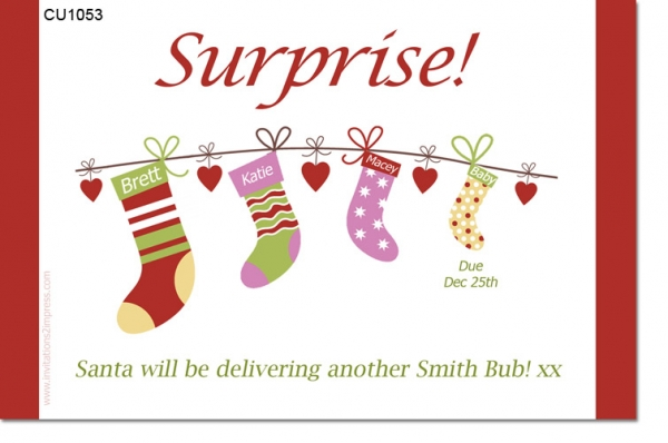 CU1053 - Christmas Baby Announcement