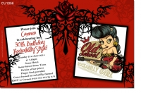 CU1056 - Rockabilly Birthday Invitation