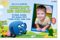CU1064  - Jungle Junction Birthday Invitation