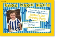 CU1071 - Bananas in Pyjamas Birthday Invitation