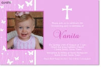 CU1075 - Butterfly Christening Invitation