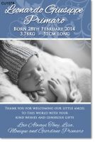 CU1078 - Boys Elegant Baby Announcement