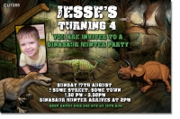 CU1088 - Dinosaur Hunt Birthday Invitation
