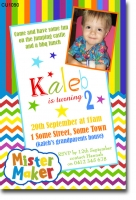cu  mister maker birthday invitation  boys themed birthday, Birthday invitations