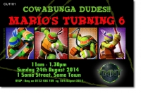 CU1101 - TMNT Teenage Mutant Ninja Turtles Boys Birthday Invitat