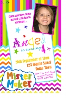 CU1106 - Mr Maker Girls Birthday Invitation