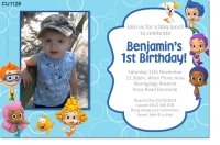 CU1128 - Boys Bubble Guppies Birthday Invitation