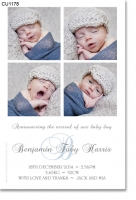 CU1178 - Boys Collage Baby Announcement Photo Template