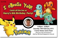 CU1182 - Pokemon Birthday Invitation