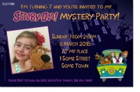 CU1186 - Scooby Doo Birthday Invitation