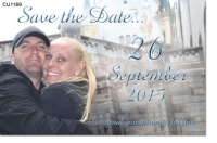 CU1189 - Save the Date photo Invitation