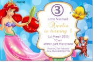 CU1192 - The Little Mermaide Birthday Party Invitation