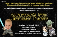 CU1193 - Kids Star Wars Birthday party invitation
