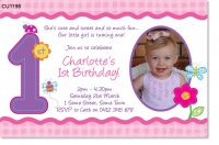 CU1198 - Hugs and Stitches First Birthday Invitation