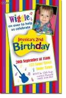 Cu1200 Boys Wiggles Themed Birthday Invitation Boys Themed