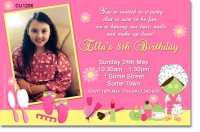 CU1206 - Girls pamper party birthday invitation
