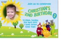 CU1207 - Boys Teletubby Birthday Invitatiion