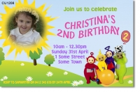 CU1208 - GirlsTeletubby Birthday Invitatiion