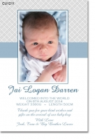 CU1211 - Boys Baby Announcement Photo Template