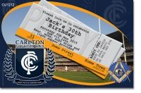 CU1212 - Carlton FC Football Club Birthday Invitation