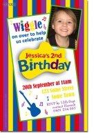 CU1214 - Wiggles themed birthday Invitation