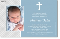 CU1215 - Boys Christening Invitation