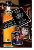 CU1217 - Mens Johnnie Walker Black Label Birthday Invitation